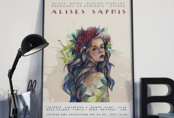 "Alises Rozes Dizaina studijas pedagogu un kursantu izstāde ""ALISES SAPNIS""."